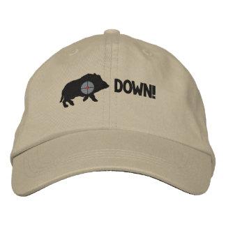 Porc noir vers le bas ! casquette brodée