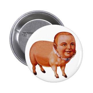 Porc vintage de porc de kitsch le phénomène de badge rond 5 cm