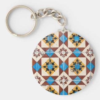 porcelaine de tuile du Portugal de décoration de Porte-clé Rond