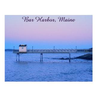 Port de barre, carte postale du Maine