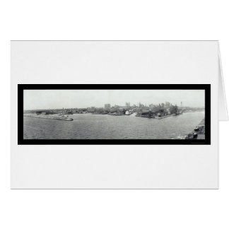 Port de Buffalo, photo 1925 de NY Carte De Vœux
