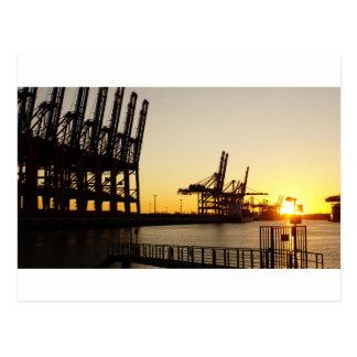 port de Hambourg Carte Postale