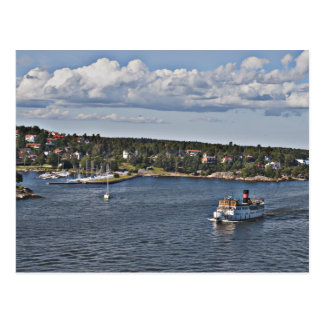 Port de Stockholm Suède Carte Postale