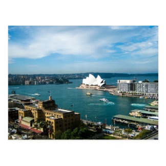 Port de Sydney et le théatre de l'opéra - carte