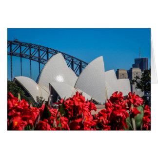 Port de Sydney un beau matin de ressort Carte
