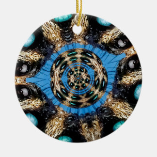 Portail psychédélique d'araignée ornement rond en céramique