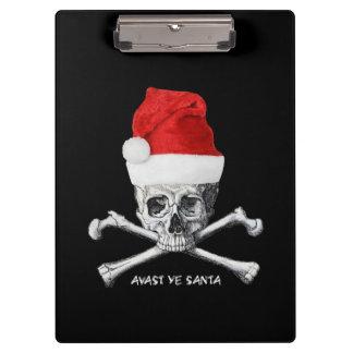 Porte-bloc Avast crâne de pirate de vacances du YE Père Noël