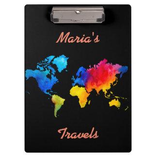 Porte-bloc Carte du monde