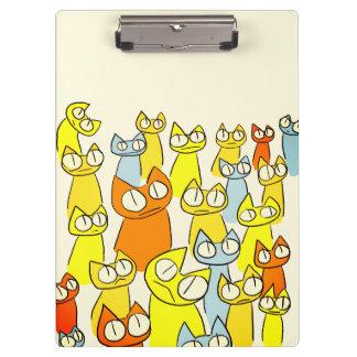 Porte-bloc Chats colorés de sort de regarder