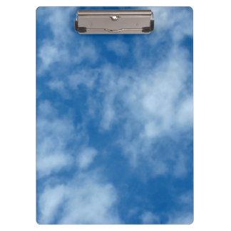 Porte-bloc Ciel bleu avec la photo de nuages