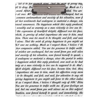 Porte-bloc Citations de Jane Austen doubles faces