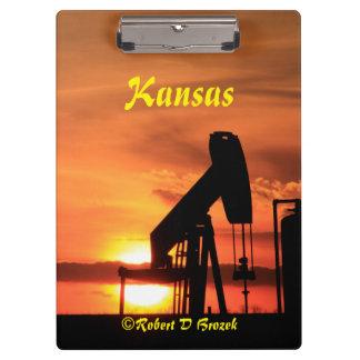Porte-bloc Coucher du soleil du Kansas avec le panneau