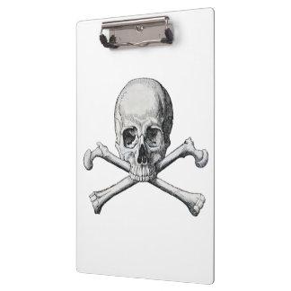 Porte-bloc Crâne vintage de pirate sur le blanc