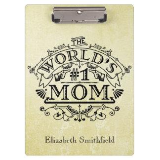 Porte-bloc Cru de maman du numéro un du monde personnalisé