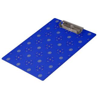 Porte - bloc de bleu royal avec le motif de