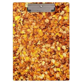 Porte - bloc de feuille d'automne