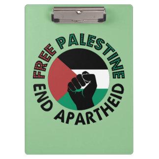 Porte-bloc Drapeau libre de la Palestine d'apartheid de fin