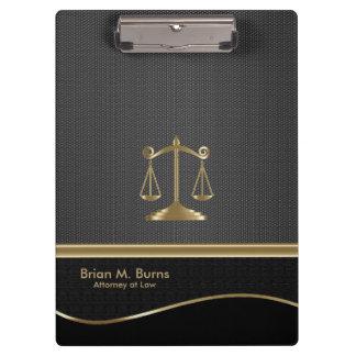 Porte-bloc Échelles de la loi | d'avocat de la justice | - or