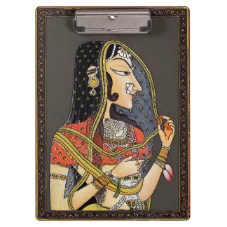 Porte-bloc Femme indienne vintage, art de Mughal