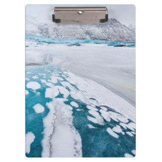 Porte-bloc Glace congelée de glacier, Islande