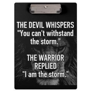 Porte-bloc Guerrier - je suis la tempête - bête de lion de