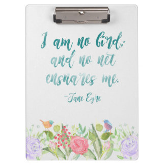 Porte-bloc Jane Eyre - je ne suis aucun oiseau - porte - bloc