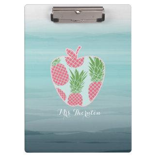 Porte-bloc La copie Apple d'ananas d'Ombre a personnalisé le