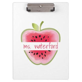 Porte-bloc La pastèque Apple a personnalisé le professeur