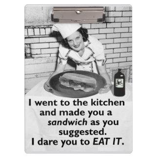 Porte-bloc Le féministe drôle me font un sandwich