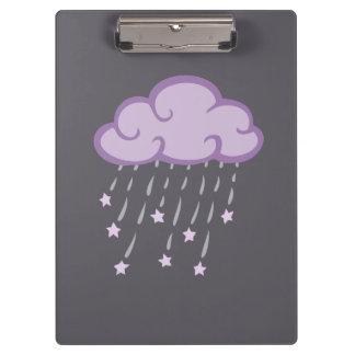Porte-bloc Le pourpre courbe le nuage de pluie avec des