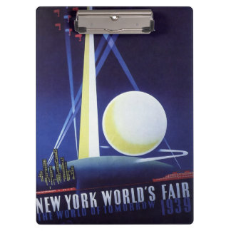 Porte-bloc L'Exposition universelle de New York City en 1939,