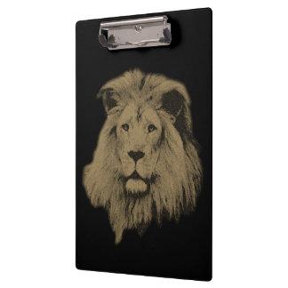 Porte-bloc Lion de sépia