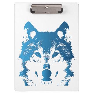 Porte-bloc Loup de bleu glacier d'illustration