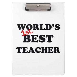 Porte-bloc Monde ęr. Le meilleur professeur