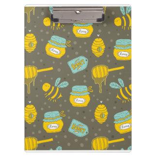 Porte-bloc Motif de Dipper de miel d'apiculteur