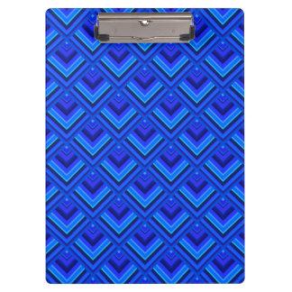 Porte-bloc Motif d'échelle de rayures bleues