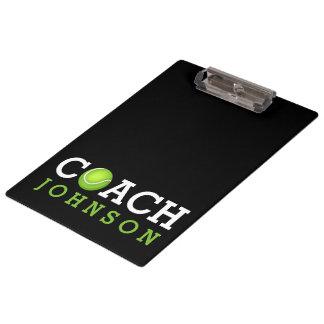 Porte-bloc Nom de coutume d'entraîneur de tennis