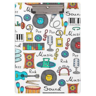 Porte-bloc Objets illustrés de musique