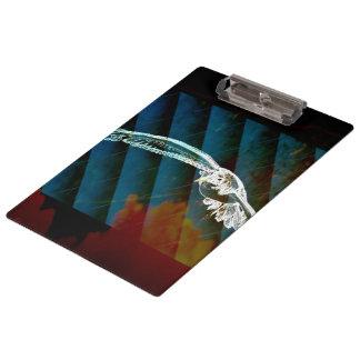 Porte-bloc Oiseaux modernes d'océan d'abrégé sur bleu