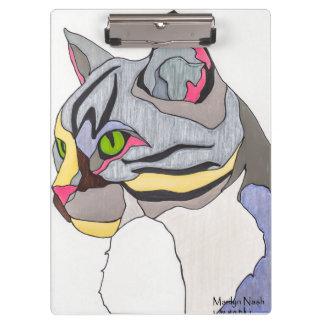 Porte-bloc Panneau d'agrafe de chat de jaspe