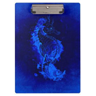 Porte-bloc Peinture bleue d'hippocampe
