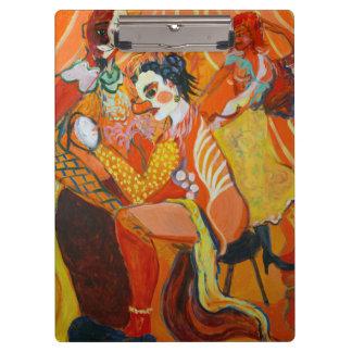 Porte-bloc Peinture de clown de beaux-arts de rire