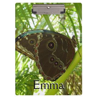 Porte-bloc Photographie tropicale de nature de papillon bleu