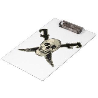Porte-bloc Pirate (crâne) - porte - bloc blanc