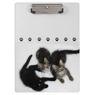 Porte-bloc Porte - bloc mignon de trois chatons