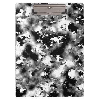Porte-bloc Porte - bloc noir et blanc de taches