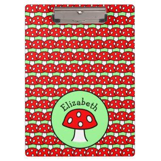 Porte-bloc Porte - bloc rouge de champignon