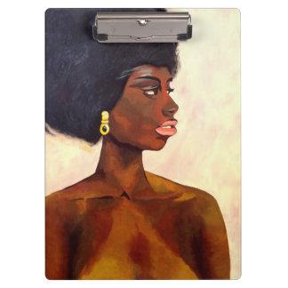 Porte-bloc Portrait africain de femme de juin (art de