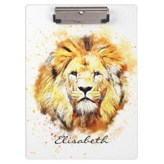 Porte-bloc Portrait peint de lion