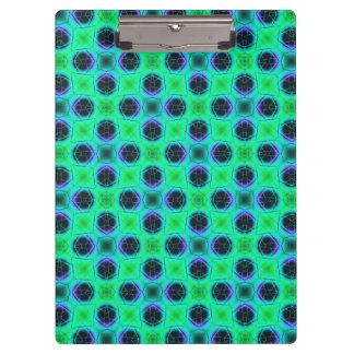 Porte-bloc Résumé géométrique bleu pourpre vert